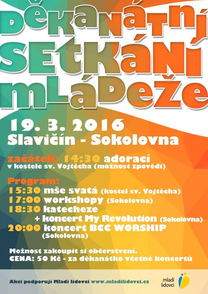 Děkanátní setkání mládeže 2016 - plakátek