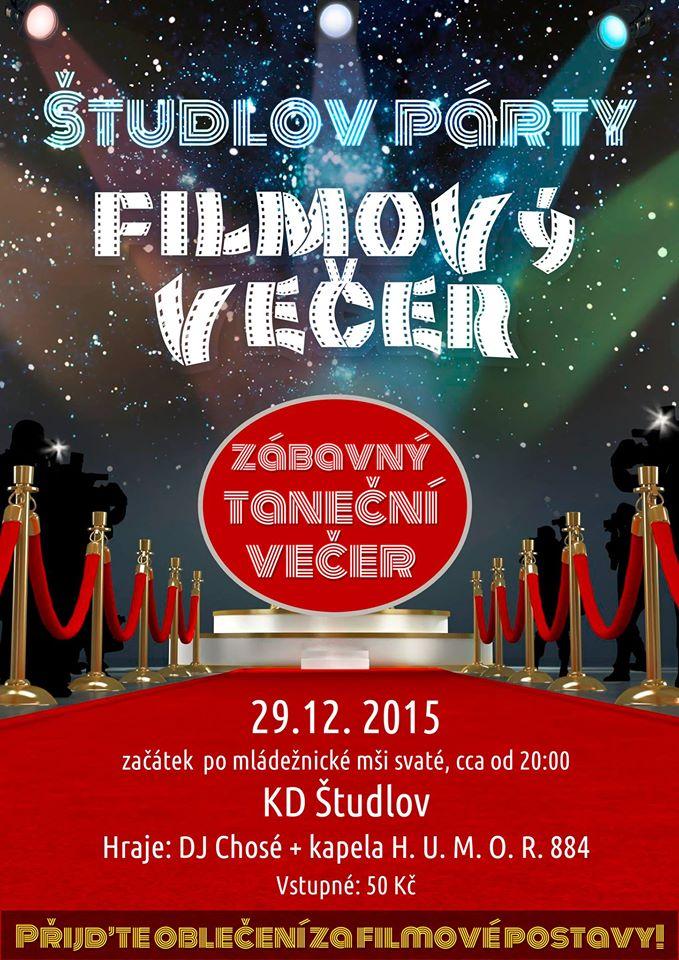Filmový večer 2015 - plakátek